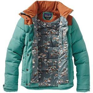 Patagonia Women's Bivy Jacket Blue Brown S